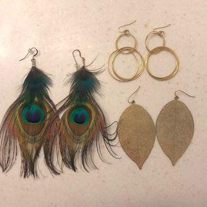Jewelry - Drop Earrings (3 for 1!)